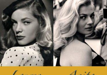 Homenaje a dos estrellas de cine: Lauren Bacall y Anita Ekberg.