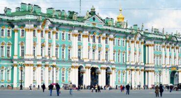 El museo Hermitage de San Petersburgo, Rusia