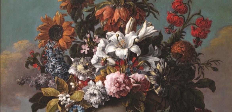 Jarrón de jardín con flores, de Gaspar Pedro Verbruggen II