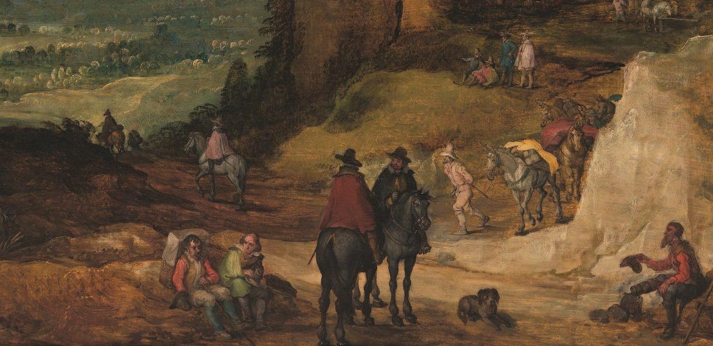 Paisaje de montaña con mulas, Joost De Momper El Joven y Jan Brueghel El Viejo